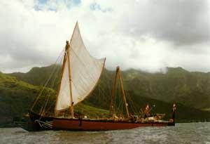 Ara Moana stævner ud fra Hiva Oa - Marquesas.
